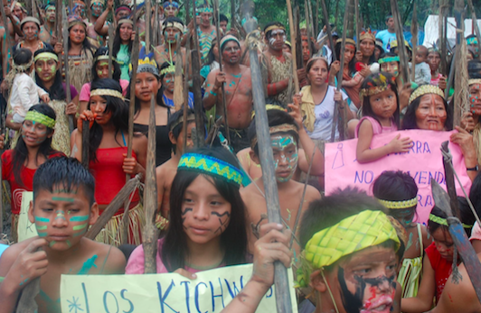 The Guardian - Peru's indigenous people protest against the relicensing of oil concession