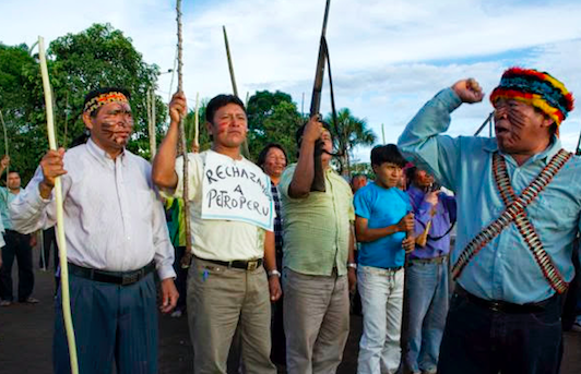 The Guardian - Indigenous Peruvians protest state oil company taking over their land