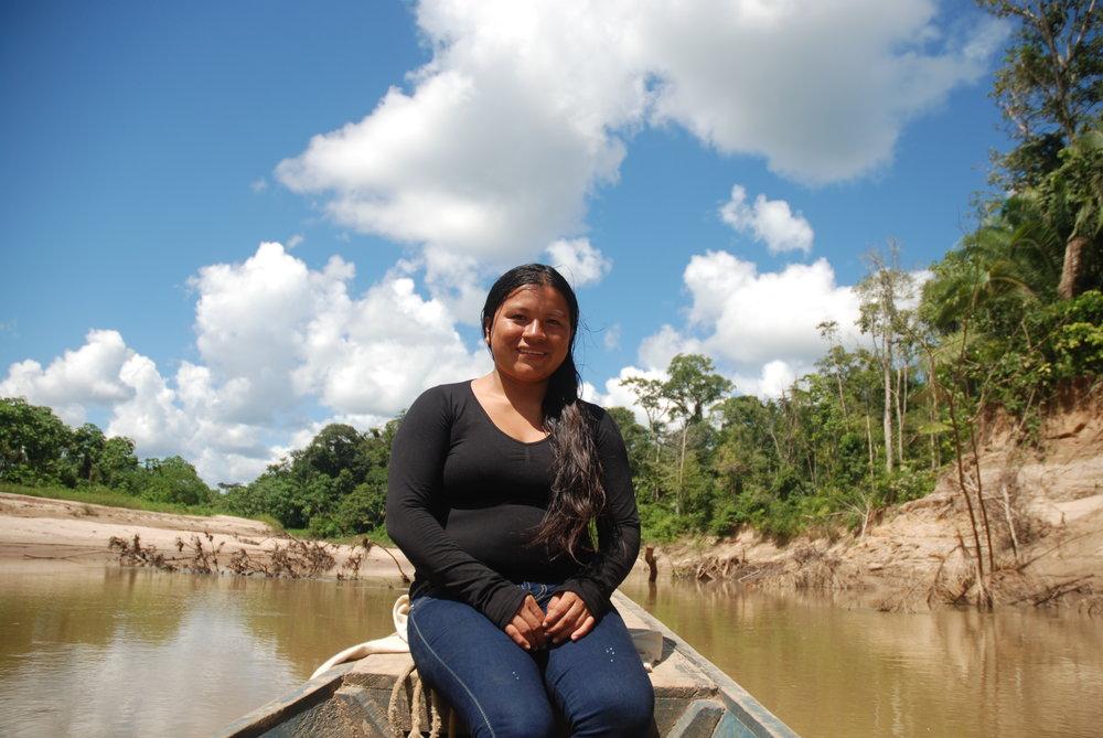 Diana Rios Rengifo, an Ashéninka leader along the River Tamaya, Peru. Diana's father was assassinated in September 2014. The killers remain at-large. Credit: David Hill