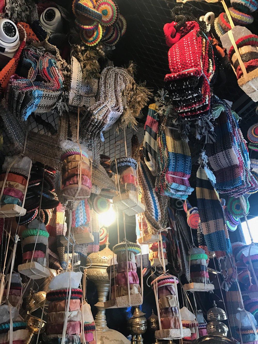 La Botica de la Abuela Aladdin  , a two story mecca for soaps and fabric woven baskets.