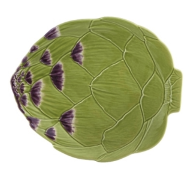 Artichoke Plate from Bordallo Pinheiro in Portugal.   Click to Shop