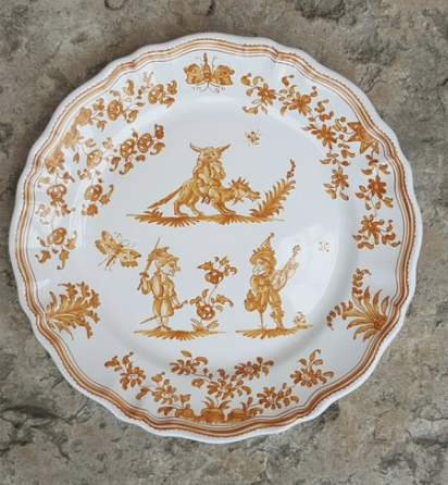 La Grotesque Handmade Plate by Faïence Bondil from France.   Click to Shop