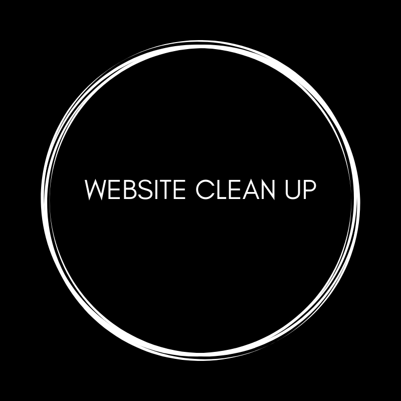 WEBSITE CLEAN UP