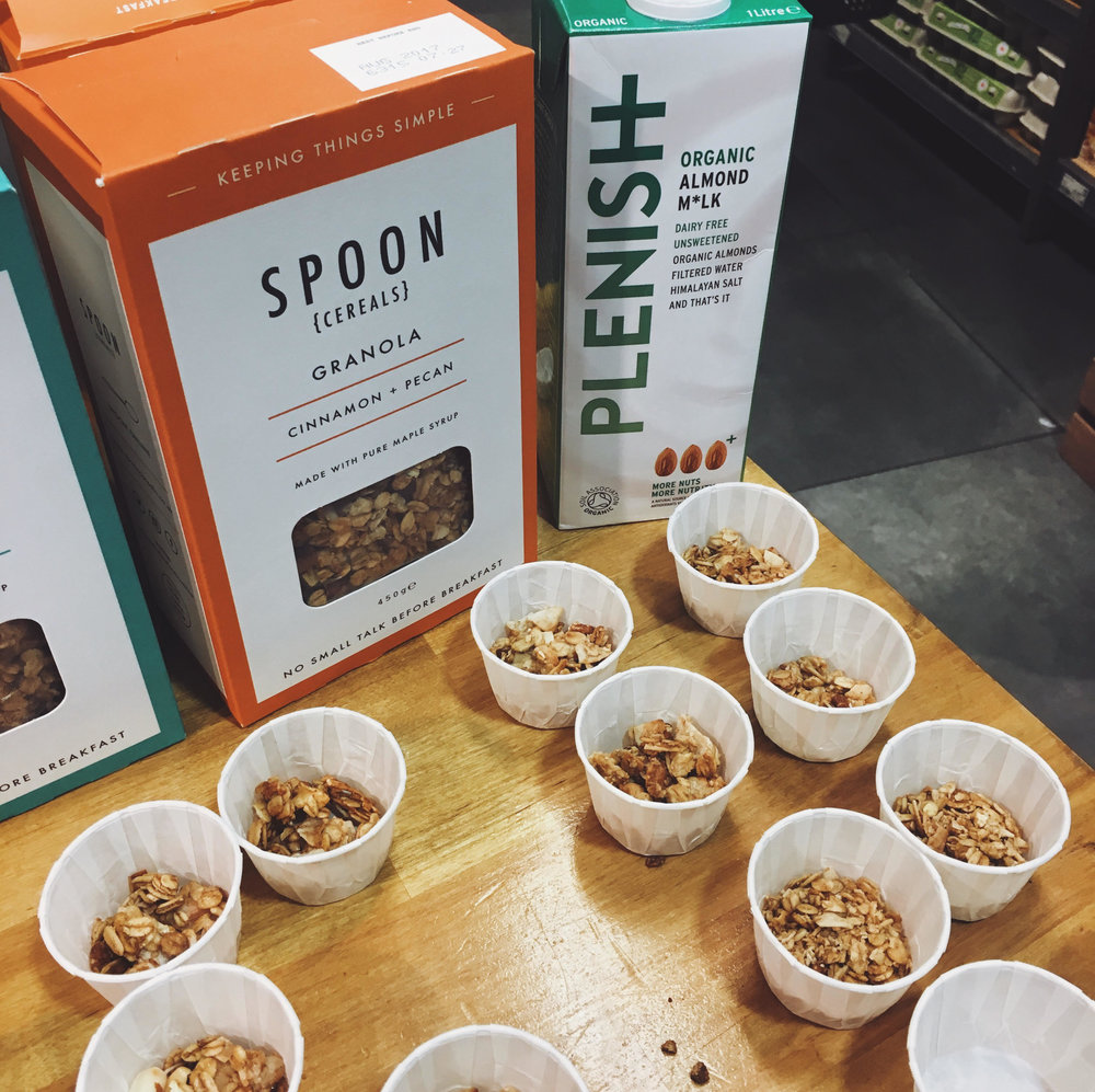 Spoon Cereals Tasting at Reboot - Try before you buy