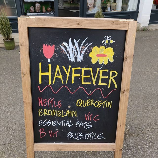 HAYFEVER - Prevention is Vital  What are the key nutrients to support Hayfever?  QUERCETIN is an antioxidant found in many fruit and vegetables, namely apples. It possesses anti-inflammatory properties and is a natural anti-histamine.  NETTLE extract works on several immune pathways that are upregulated in allergic conditions. It has the ability to block histamine activity, and other pro-inflammatory molecules involved in hay fever.  BROMELAIN is a protein-digesting enzyme derived from pineapples, mostly the stem/core. It has anti-inflammatory and immune balancing properties, directly acting on immune cells.  VITAMIN C supports histamine detoxification, aiding with clearing it from the body.  B VITAMINS such as B6, B2, B12 and folate, are also important for supporting histamine clearance and can act as cofactors for detoxification pathways and some of the above-mentioned enzymes.  ESSENTIAL FATS omega 3 and 6, can also help to reduce inflammation and are involved in the production of anti-inflammatory immune molecules. These can be found in foods such as oily fish, freshly ground flaxseeds, avocados, and walnuts.  PROBIOTICS can further help to reduce inflammation and boost the immune system, specifically the strain Lactobacillus rhamnosus, which has been proven effective in preventing early atopic disease in children at high risk. There is also a strong link between gut health and the presence of allergies, so probiotic supplementation could be further beneficial, especially if you suffer with multiple allergic conditions.  LOCAL HONEY is good to consume raw which helps to build resistance to the pollen. And its tasty! ;) Hope this helps!  Thanks and stay Healthy.  PS: Sorry about the dodgy artwork! :) #sunningdale #ascot #sunninghill #virginiawater #chobham #camberley #chertsey #windlesham #egham #englefieldgreen #berkshire #surrey #hayfever