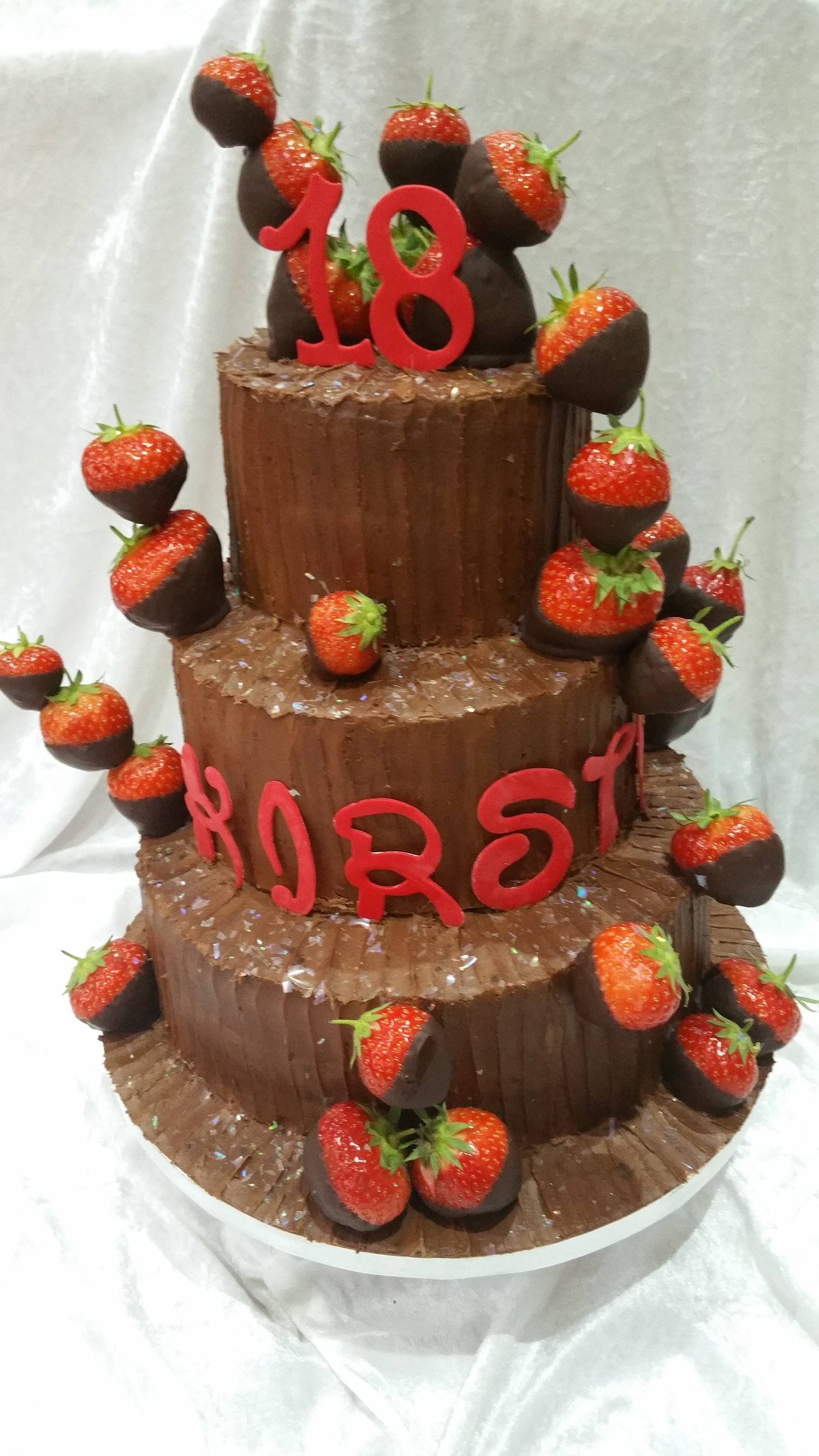 Chocolate 3 Tier Birthday Cake