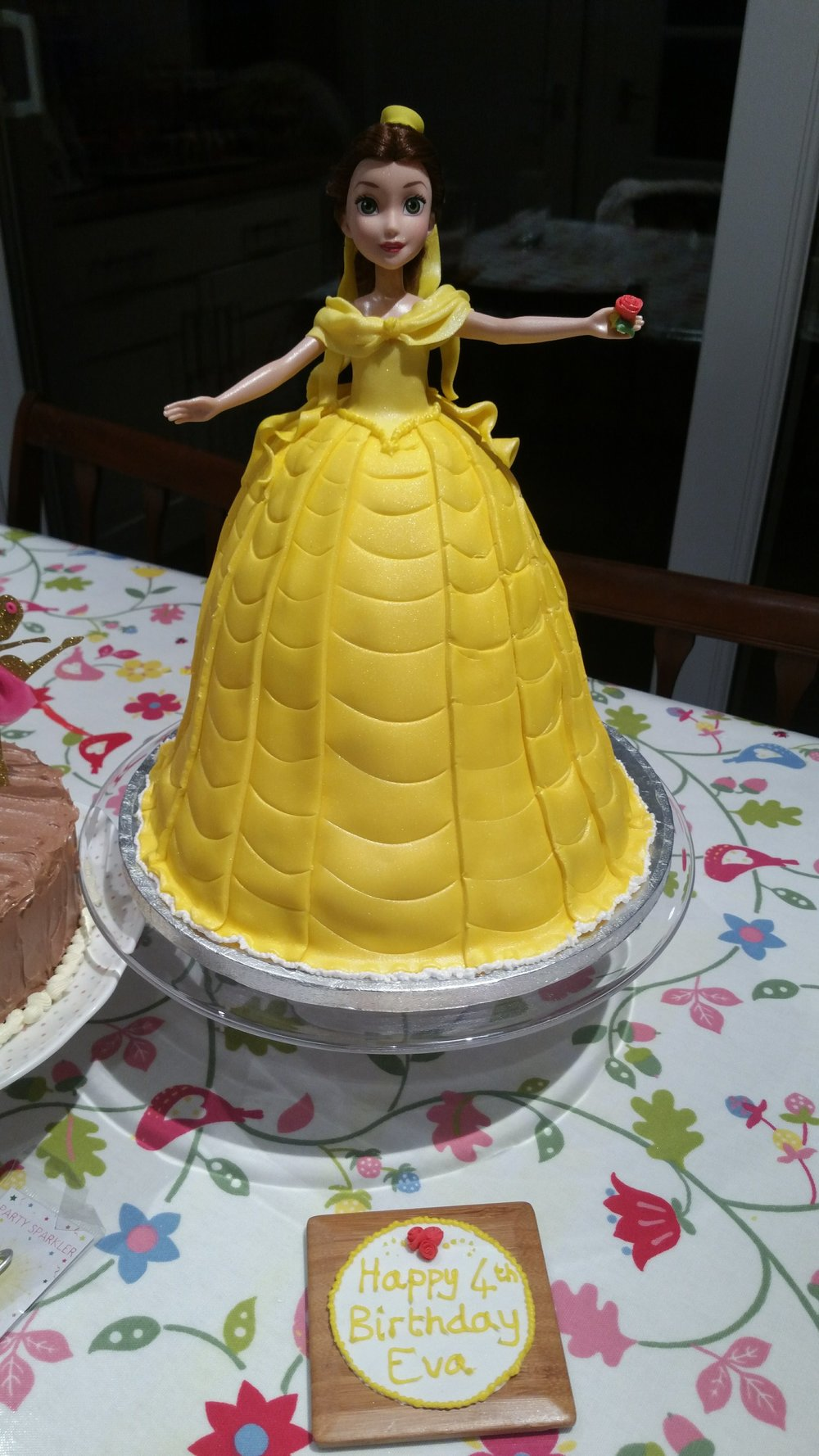 Made by my student - This beautiful Belle cake was made by my student for her daughter during our special bespoke course.  In one evening we made this cake together, with my guidance, she made a wonderful cake for her thrilled daughter to enjoy with her friends that weekend.Please ask for details on courses.  I am happy to help.