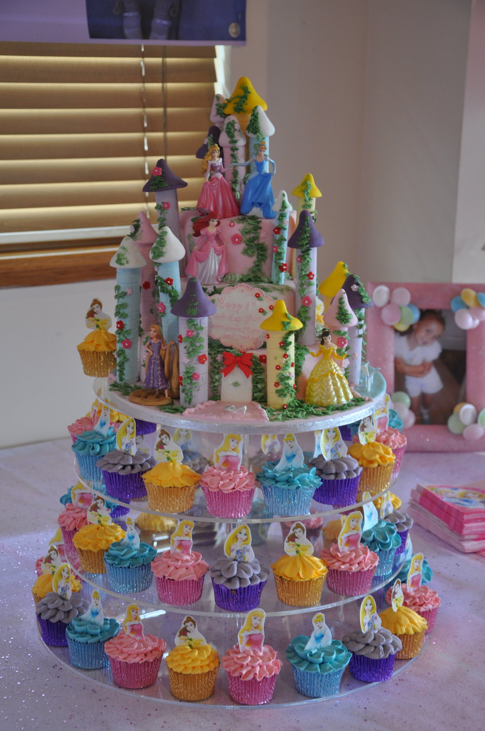 A castle for a princess - An amazing and wonderful centrepiece to your Princess party, this castle and Princess cupcakes make it all come together, creating a fairy tale cake for everyone to enjoy. The castle and cupcakes can be ordered together or separately.