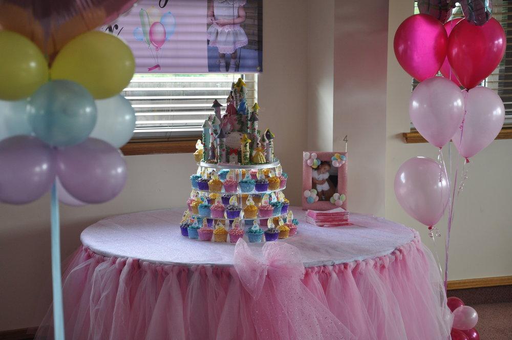 2014-06-29 Disney Princess Castle Cake and Cupcakes 26.JPG