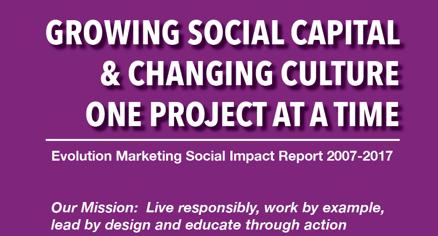 Evolution Marketing Social Impact Report