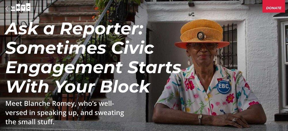 Amber Discusses Civic Engagement on WNYC Radio