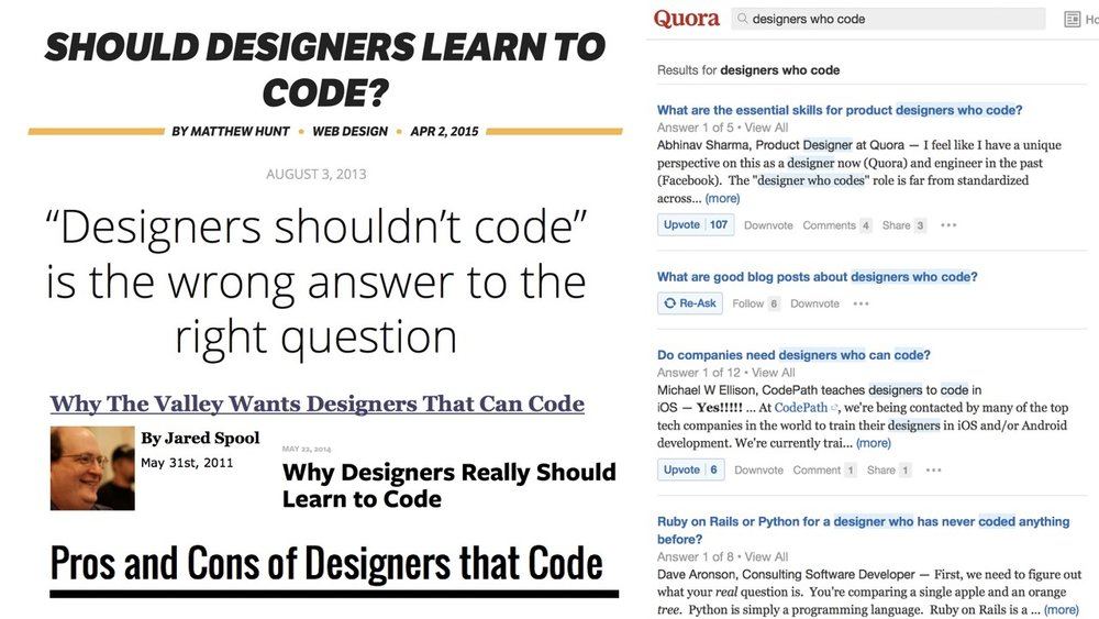 he long-debated question: Should designers code?