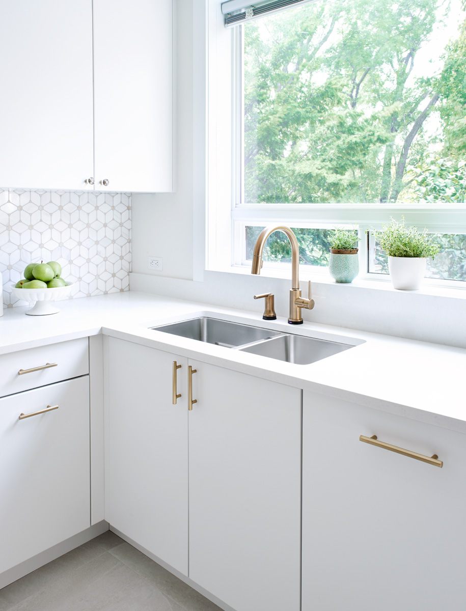 Toronto All White Kitchen