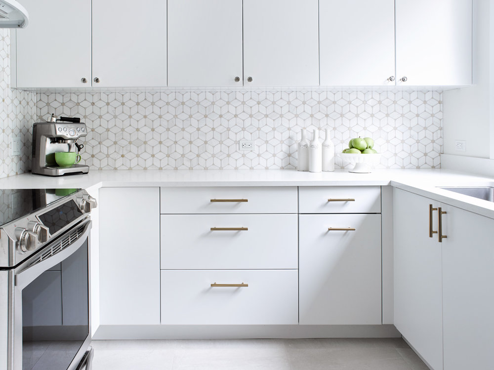 Simple White Kitchen in Toronto