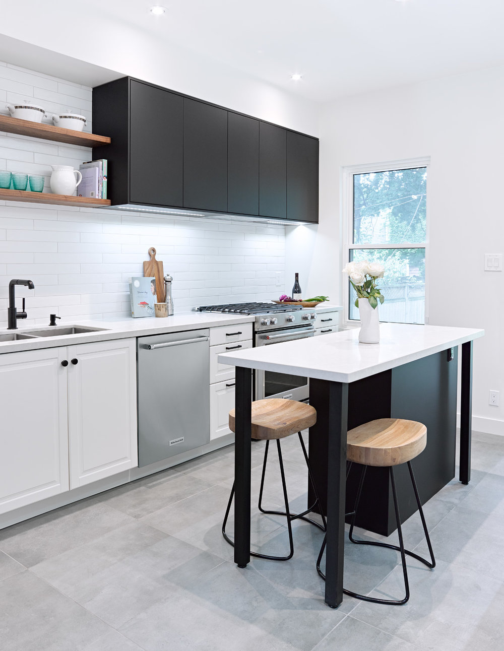 Black and White Ikea Kitchen