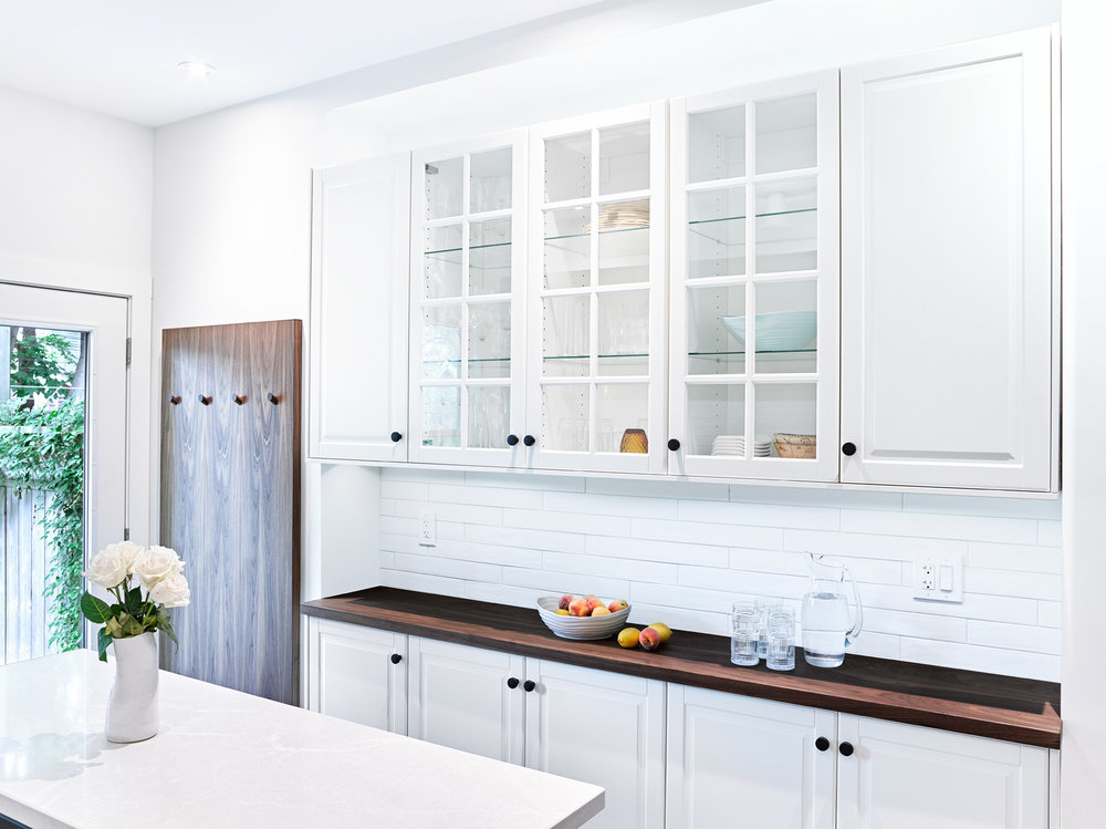 Ikea Servery in White with Walnut Countertop
