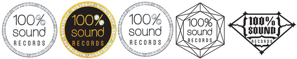 100 Percent Sound Records, Logos By www.JenCochrane.com