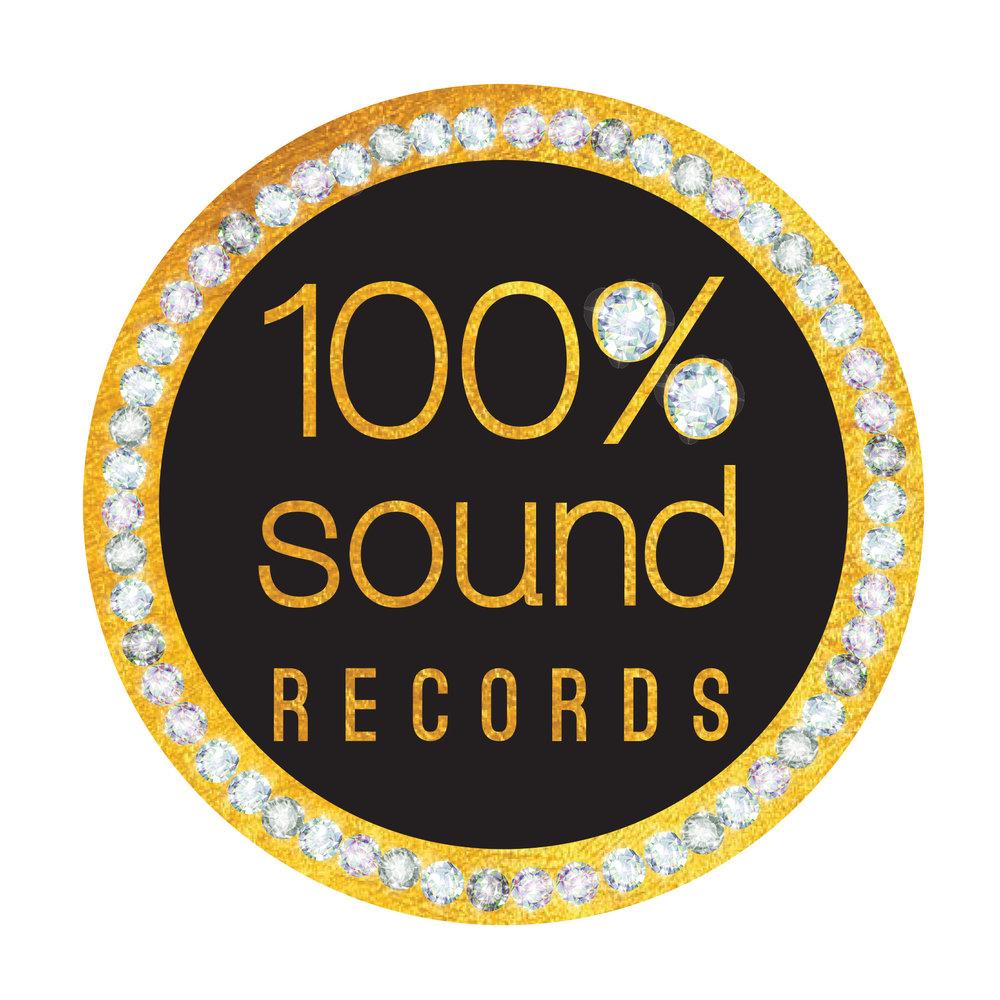 100 Percent Sound Logo, Designed by www.JenCochrane.com