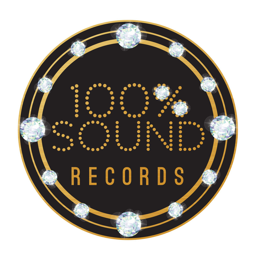 100 Percent Sound Logo, Designed by www.JenCochrane.com