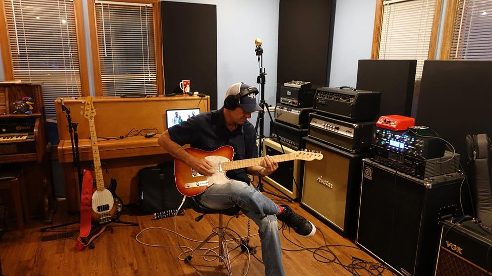 "Bill Guandolo tracking guitar on ""Reunion"""