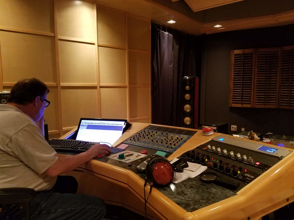 Mastering the Stella Rose album with Bruce Brown at his Puget Sound Studios mastering facility