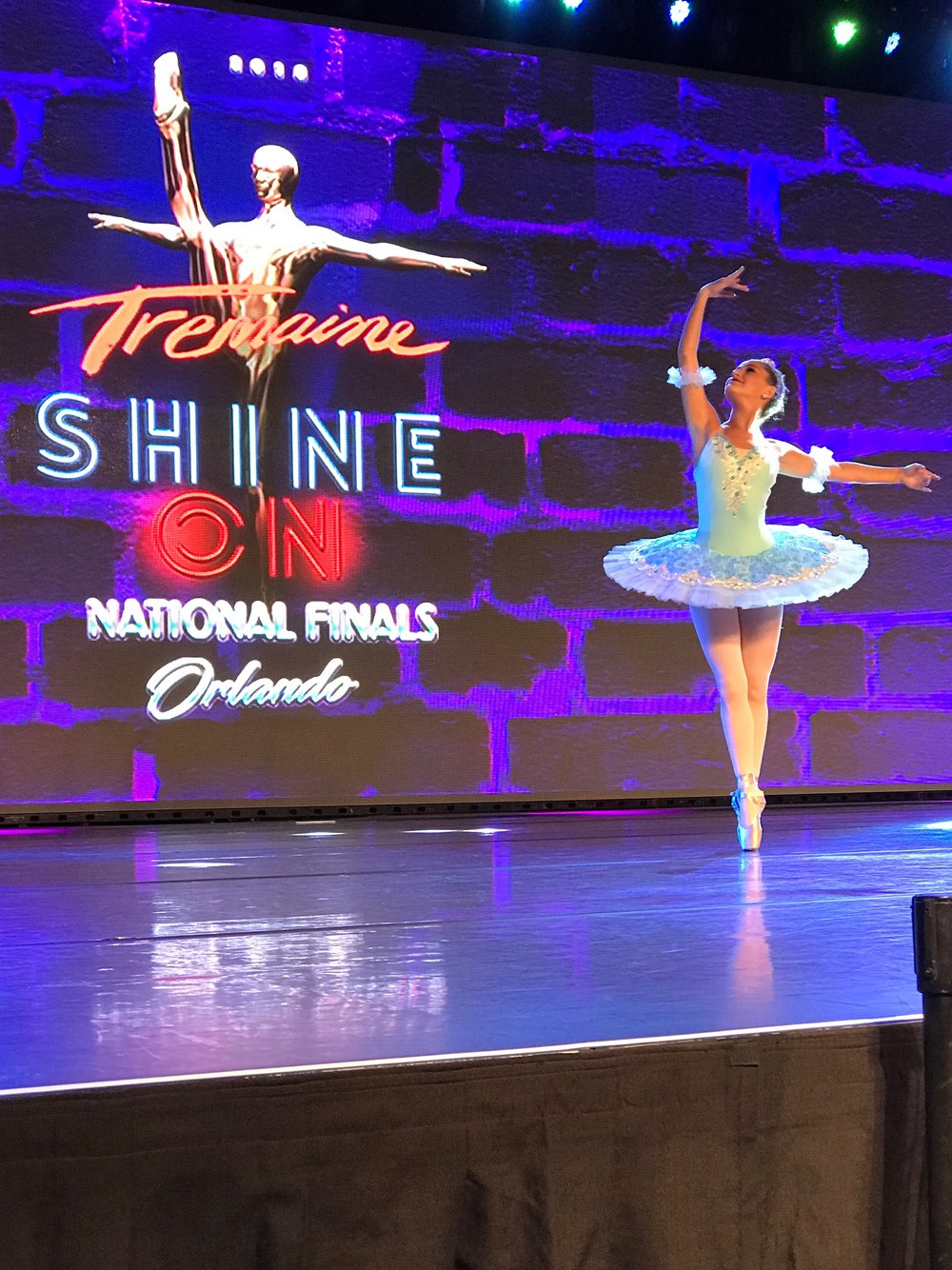"Cameron Gilboy in her performance of ""Variation from Sleeping Beauty"" at the Tremaine National Competition."