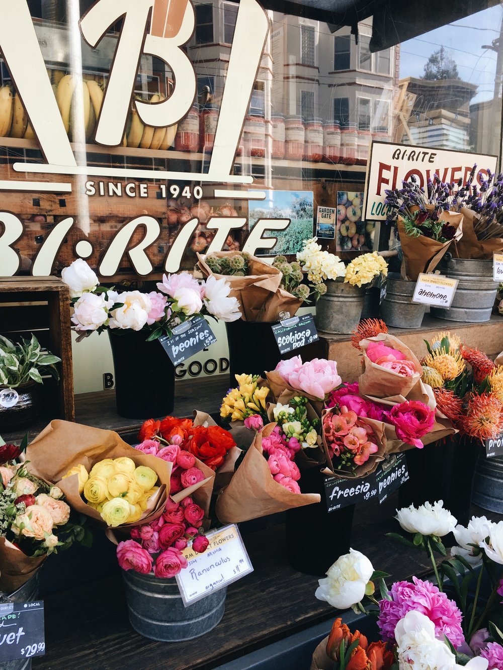 THERE'S ALWAYS FRESH FLOWERS - Because we like to support our local businesses.