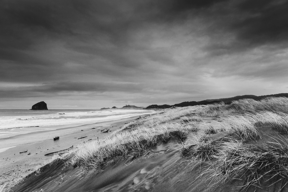 Landscape Travel Photography by Mel Volkman Black And White Stormy Seascape Photo Print 3.PNG