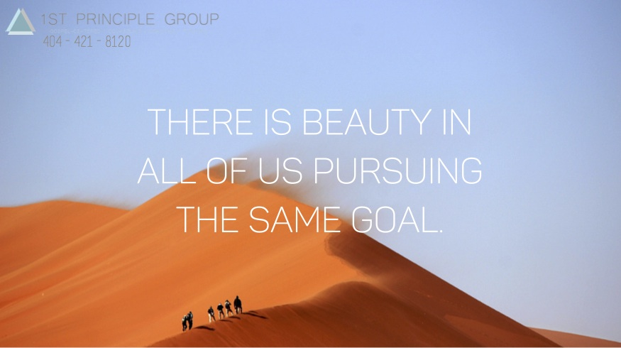There is beauty in all of us pursuing the same goal.(1)
