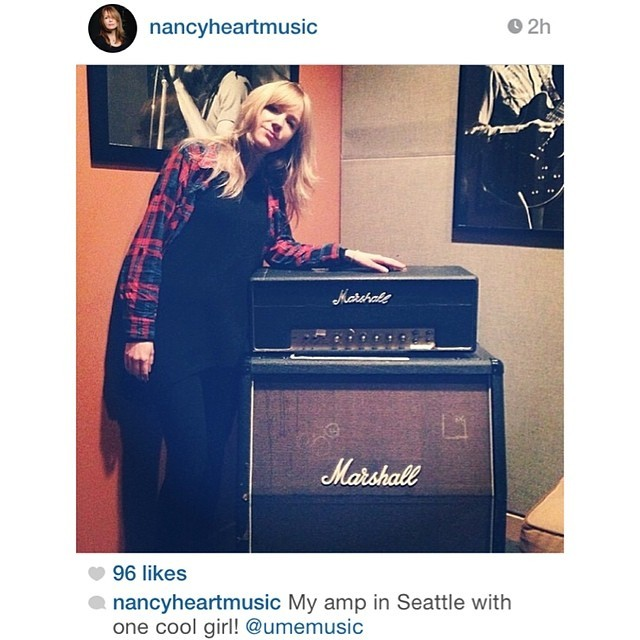 The amazing and inspiring Nancy Wilson just posted this pic of me with her amp! Wow, thank you @nancyheartmusic