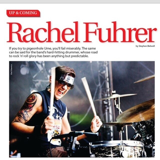 Check out our drummer Rachel in this month's Modern Drummer Magazine!!