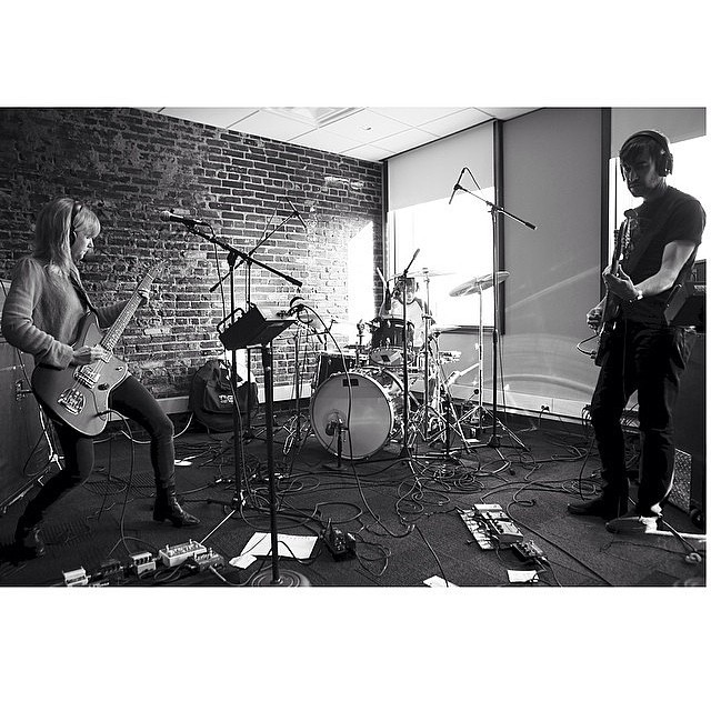 From our @KDHX session! Hear it live this morning at 11am. KC next at Czar Bar! Pic by @nate_burrell.