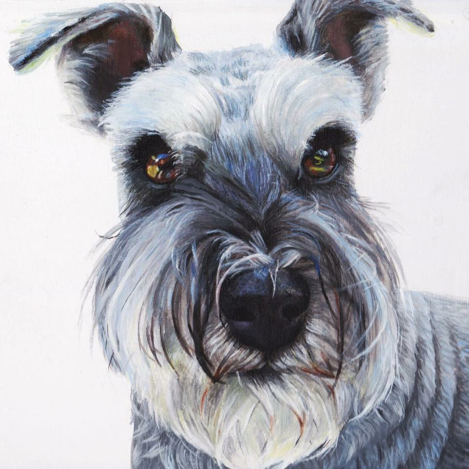 Monty (detail),  2016, acrylic on board, 30x20cm.