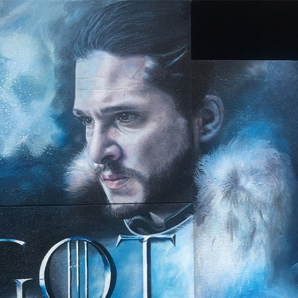 Jon Snow portrait,  2017, Game of Thrones, Apparition Media.