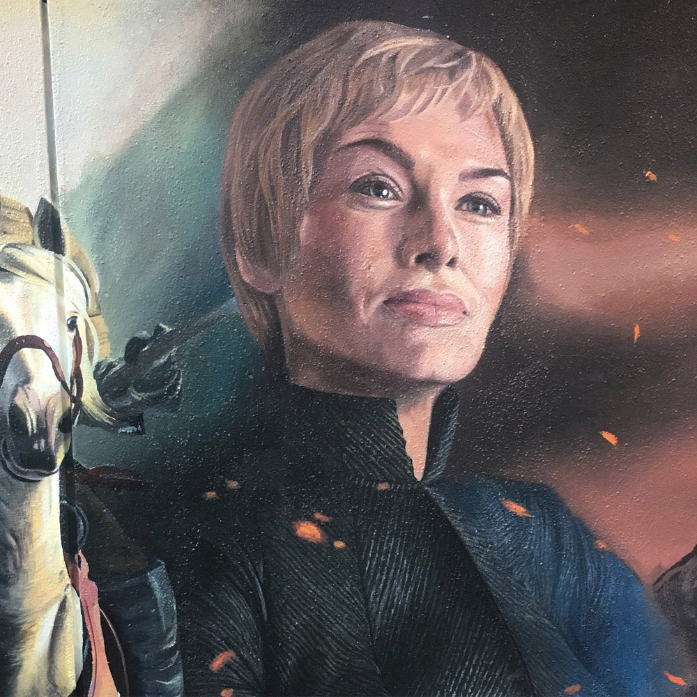 Cersei Lannister portrait,  2017, Game of Thrones, Apparition Media.