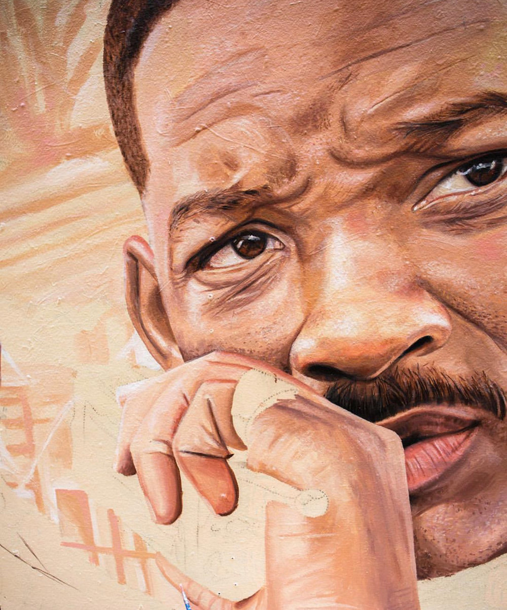Will Smith   (detail) , 2018, Bright, Apparition Media.