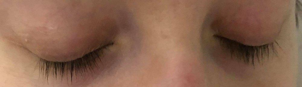 Before - No Mascara. Somewhat damaged, sad lashes.