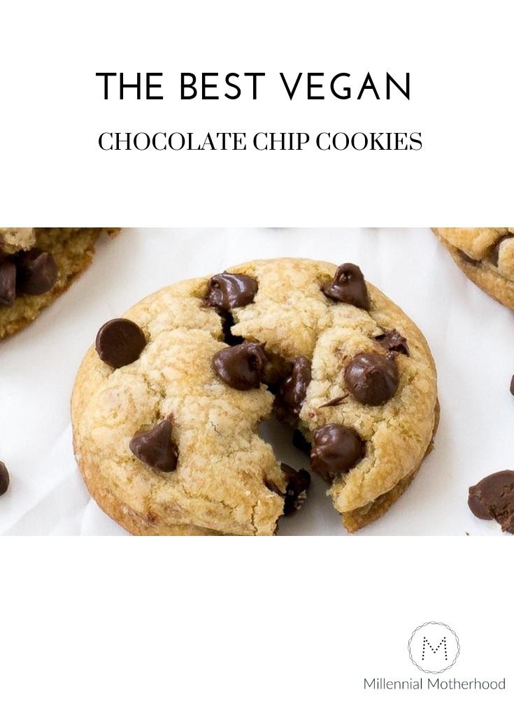 Millennial Motherhood - Best Vegan Chocolate Chip Cookies