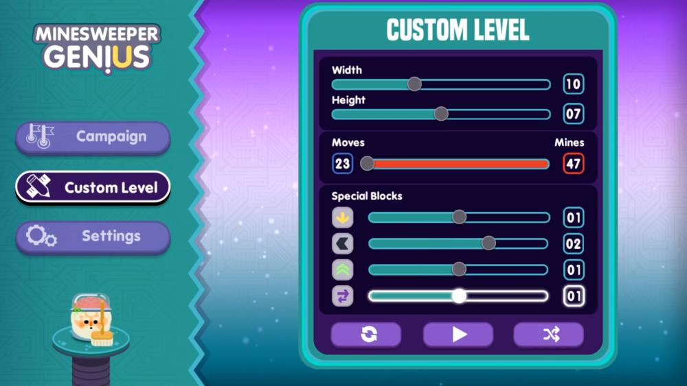 Minesweeper Genius' custom level editor.