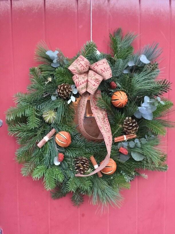 Guests Wreath Christmas Wreath Making Workshop Ely Cambridgeshire 2nd December.jpg