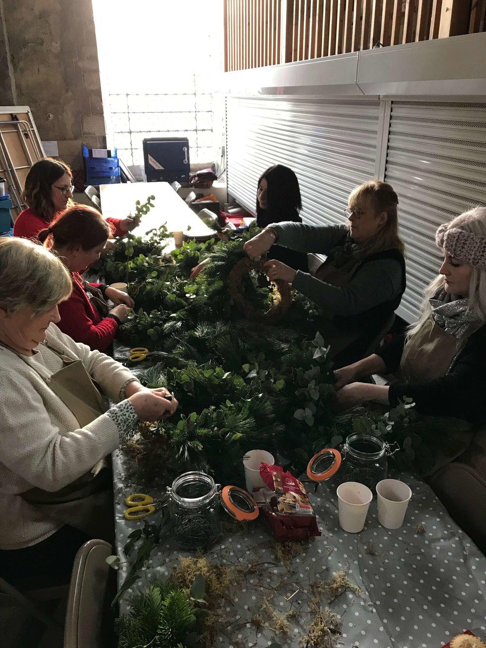 Christmas Wreath Making Workshop Ely Cambridgeshire 16th December Group Shot 2.jpg