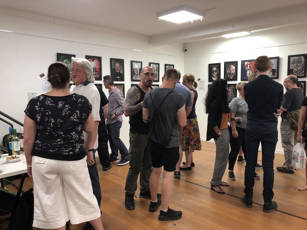 Drinks, nibbles and art going down a treat