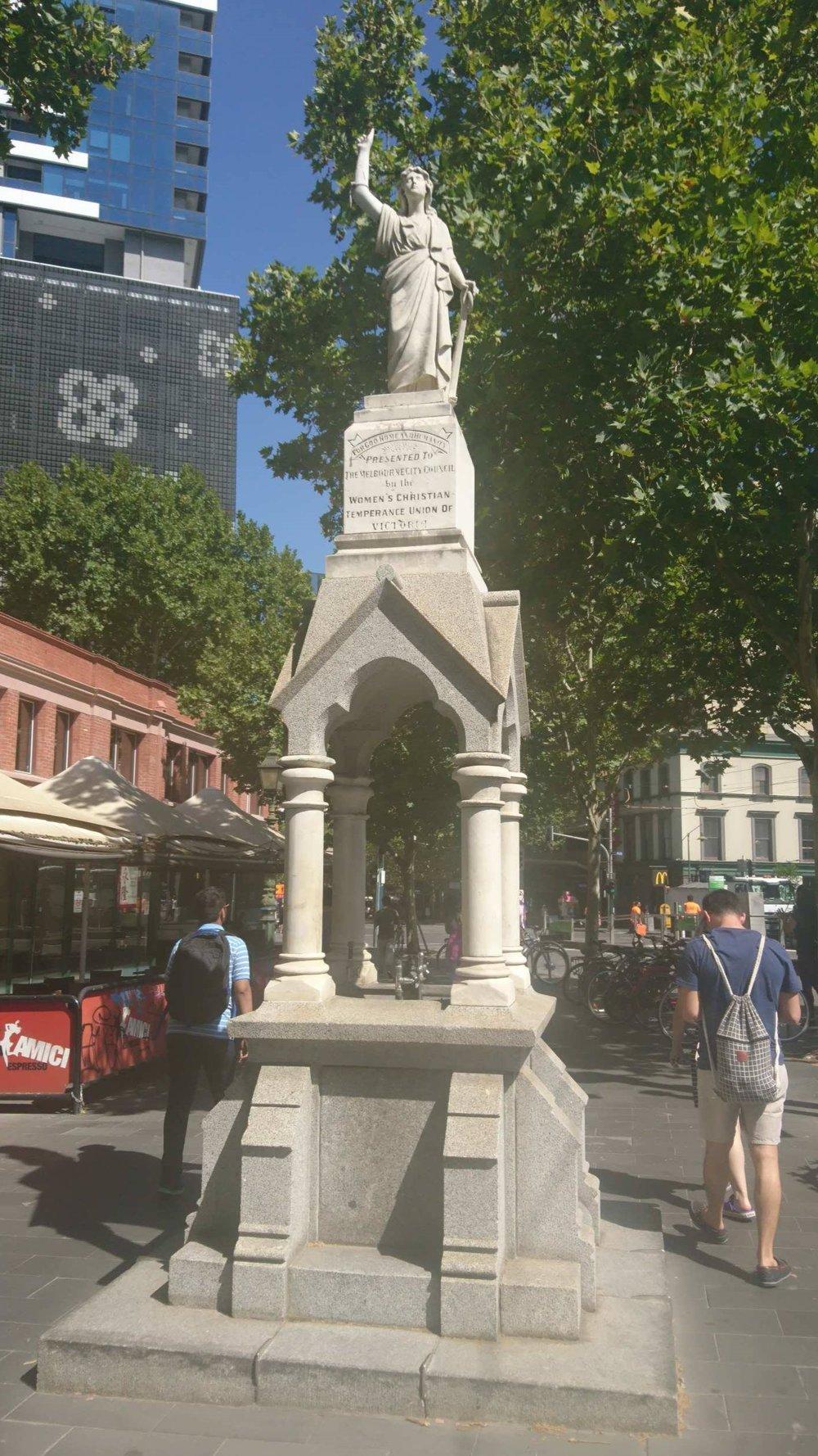 Statue commemorating the WCTUA in Melbourne