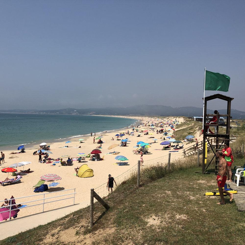 A Lanzada beach.