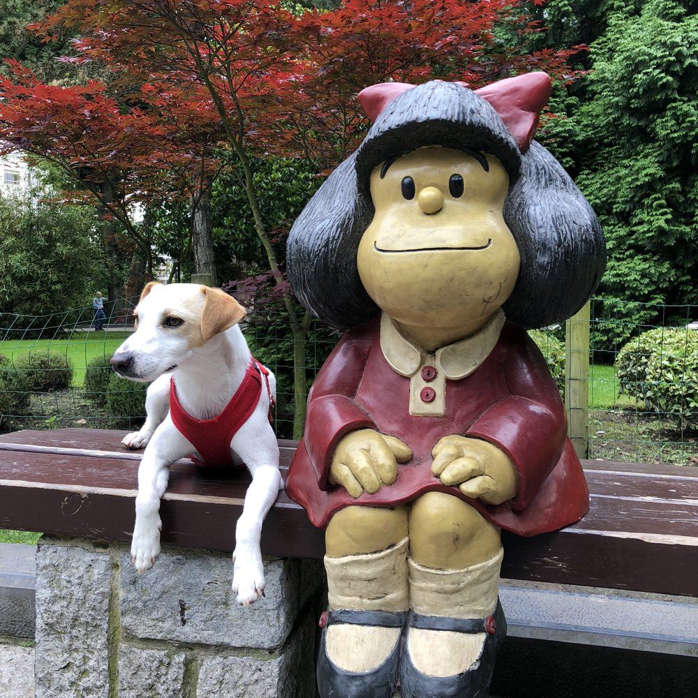 Pipper with Mafalda in Oviedo.