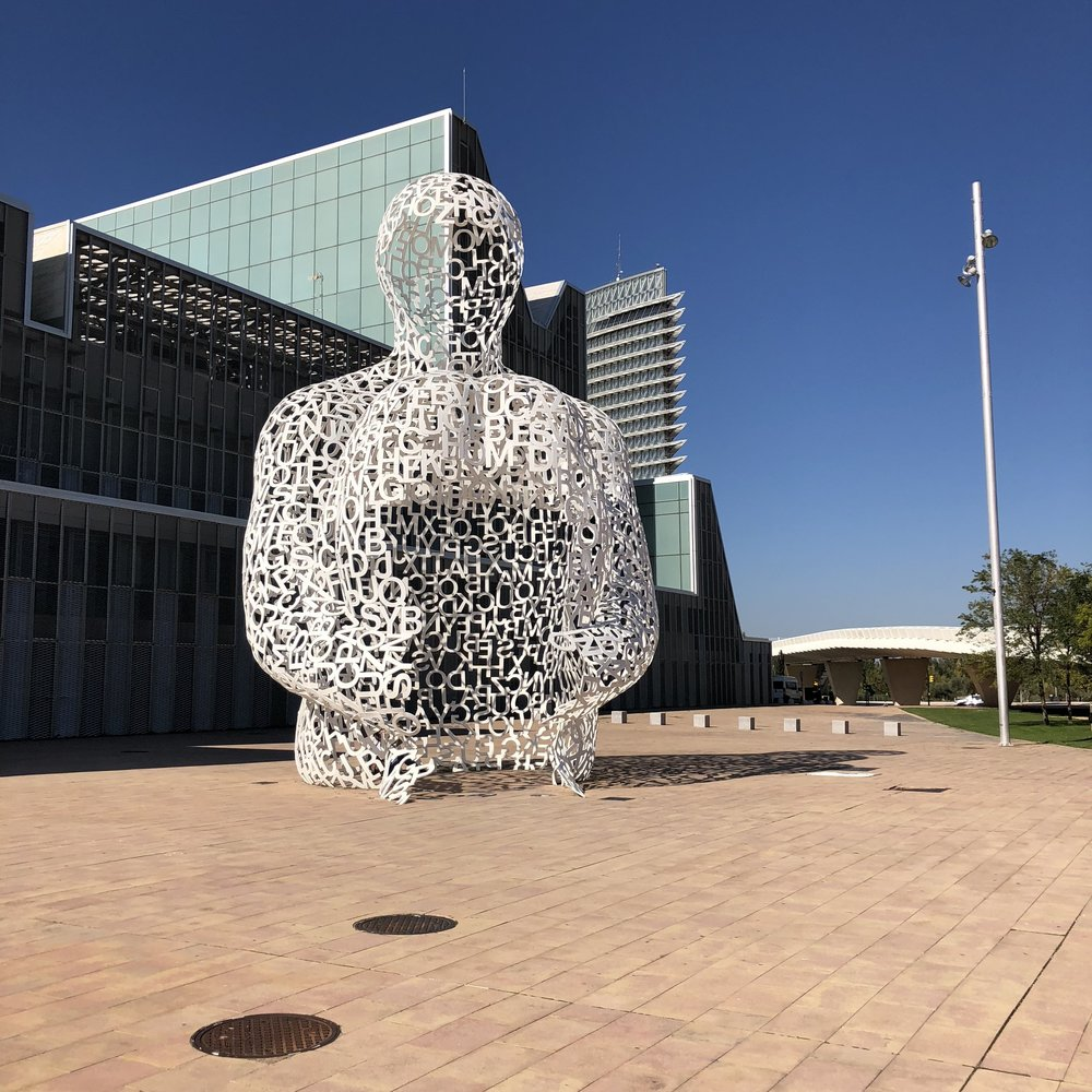 The Soul of the Ebro, by Jaume Plensa.