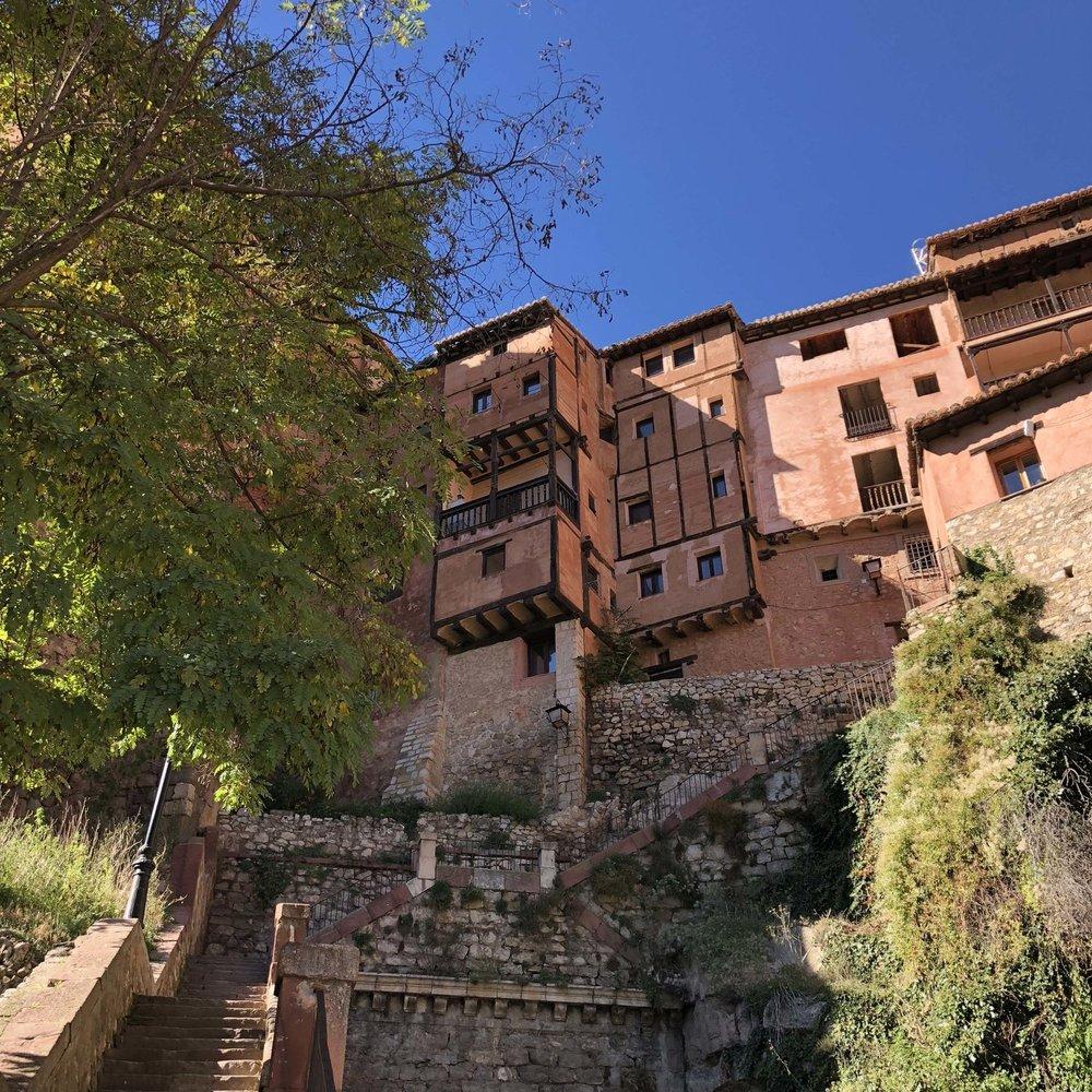 Hanging houses of Albarracín.