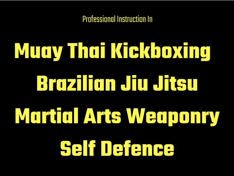 Muay Thai Kickboxing Brazilian Jiu JitsuMartial Arts WeaponrySelf Defence.png