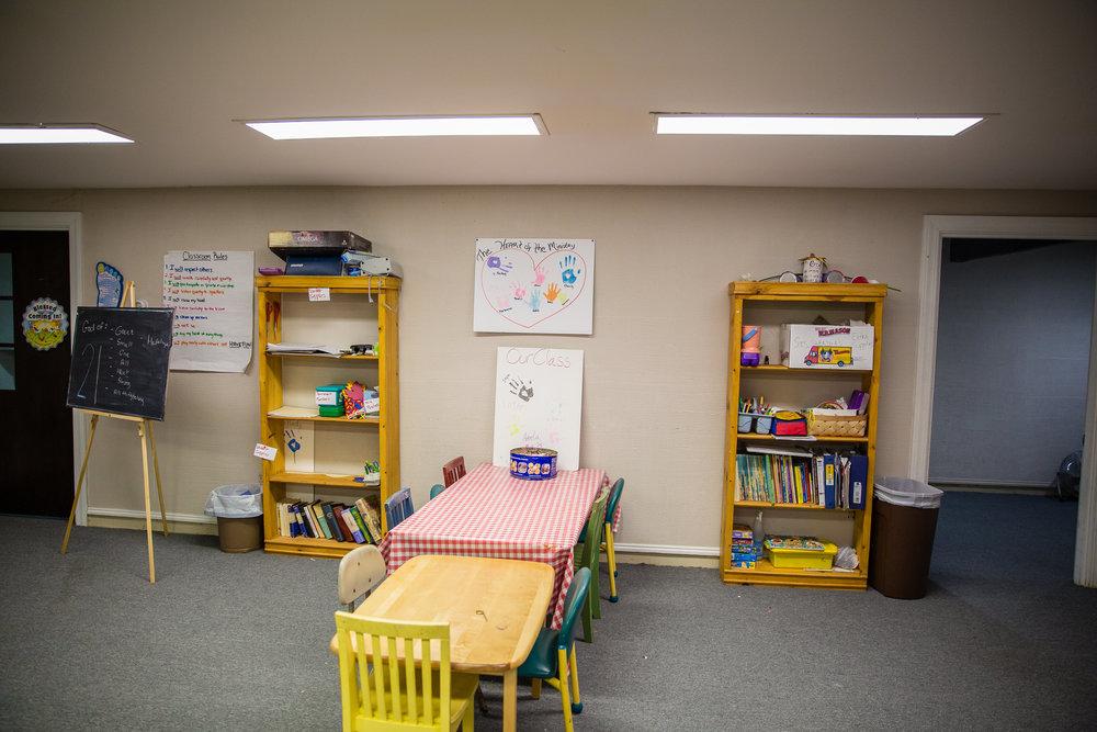 Children's craft area.