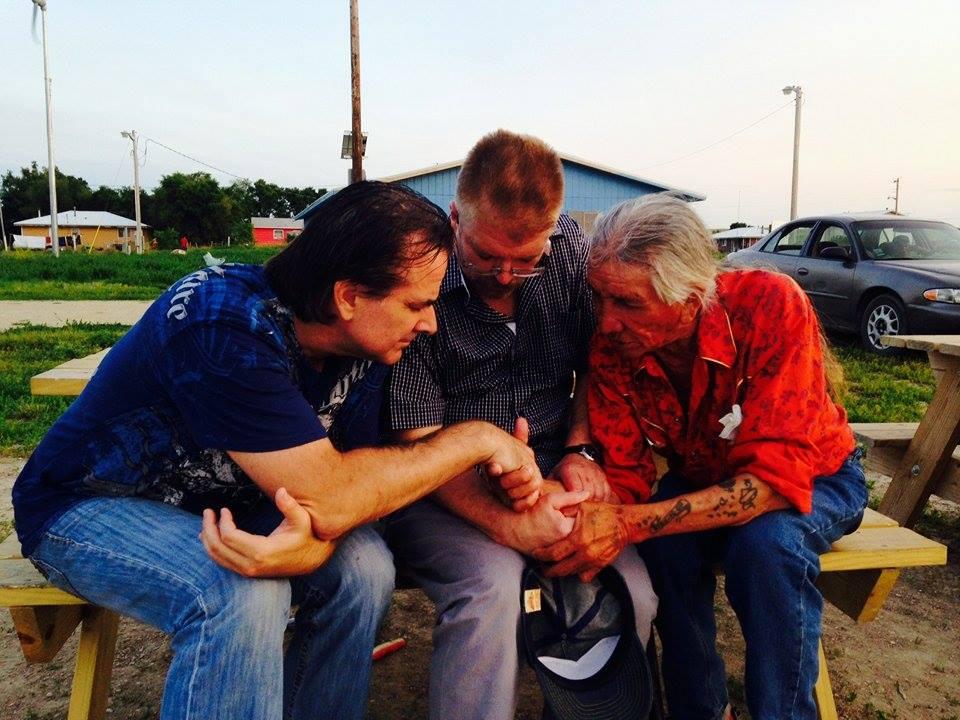 Pastor Jim (center) during his Missions Trip to South Dakota, USA